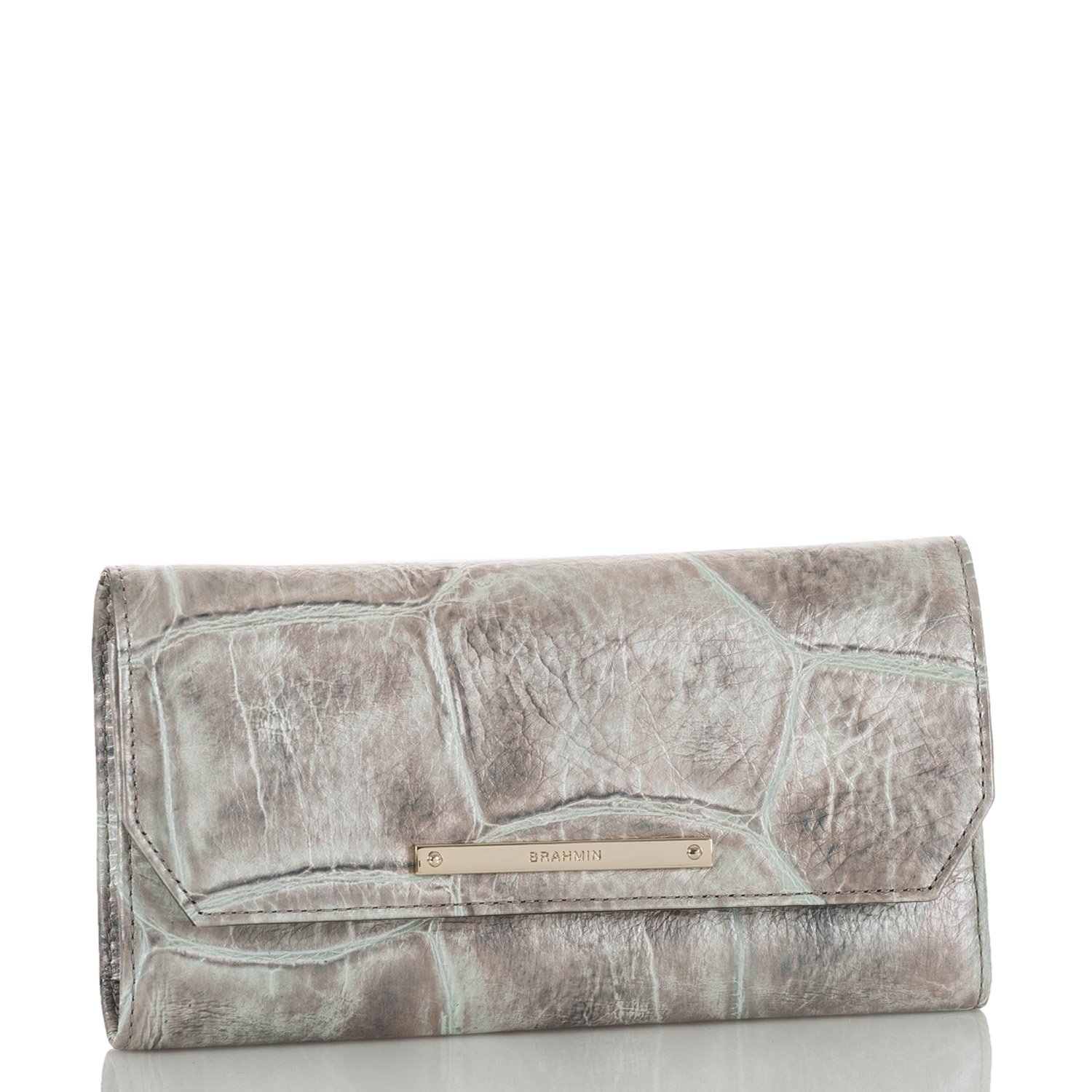 Soft Checkbook Wallet Pewter Majorelle