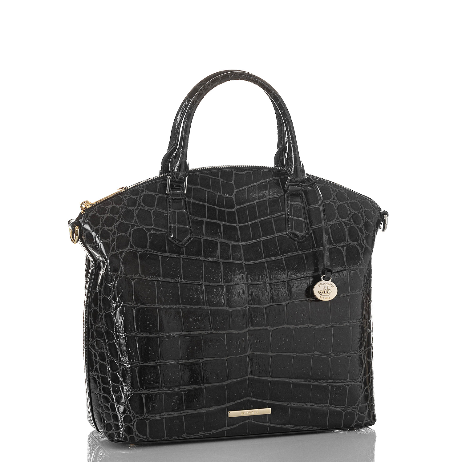 Large Duxbury Satchel Black Veil