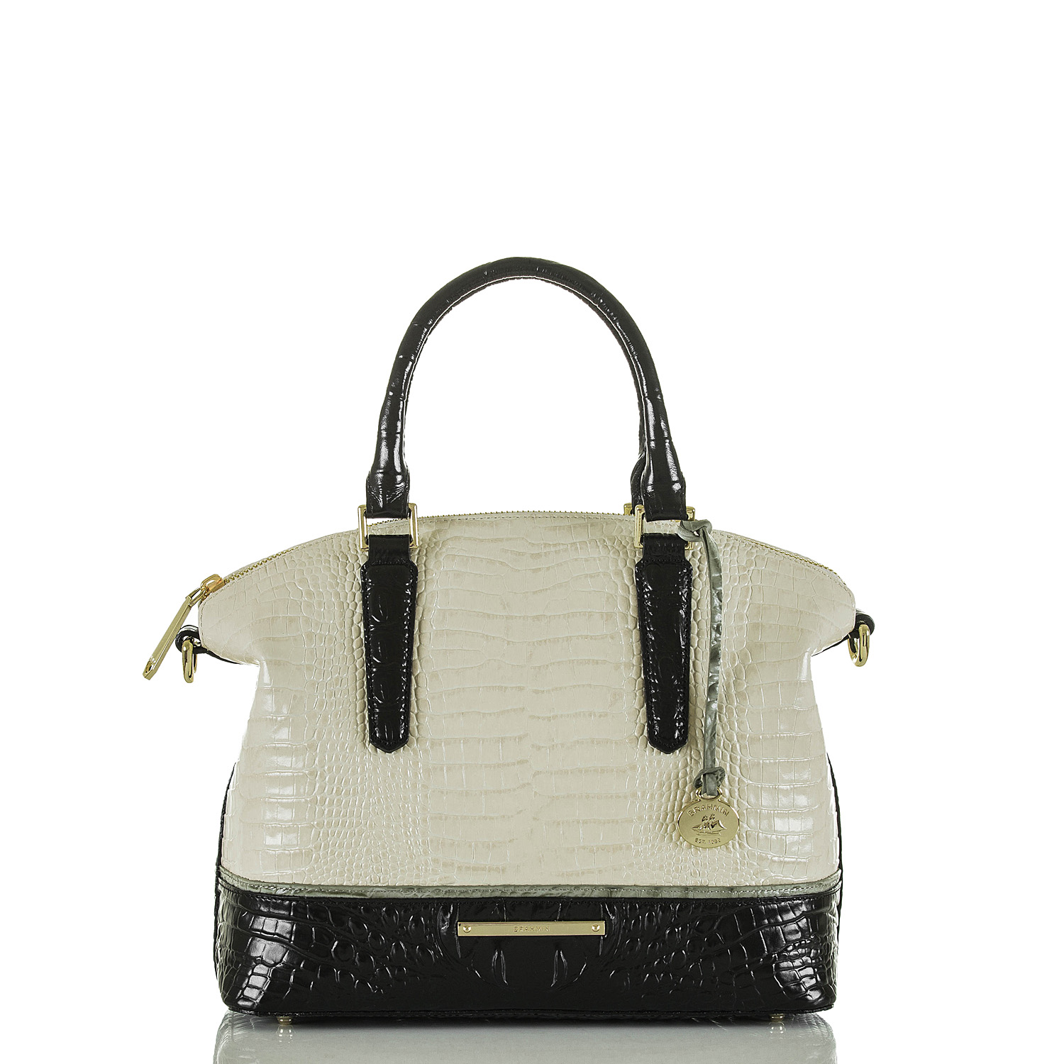Duxbury Satchel Ivory Tri-Texture Video Thumbnail