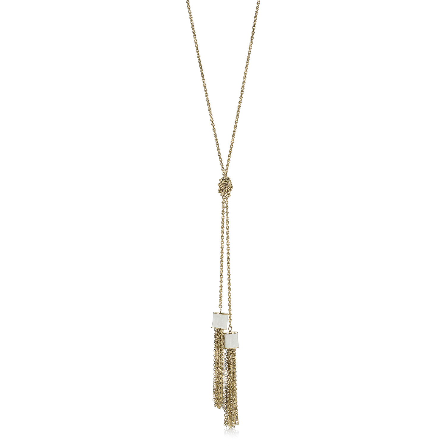 p stone geo necklace tassel