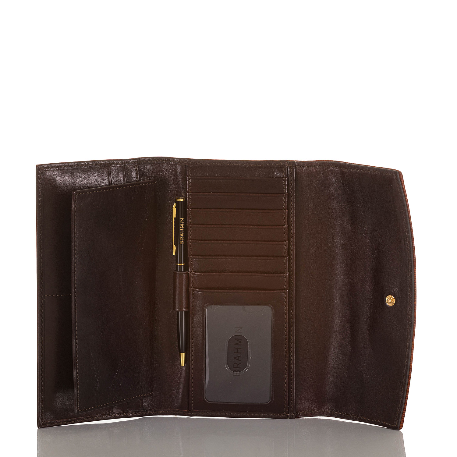Modern Checkbook Wallet Toasted Viola Front