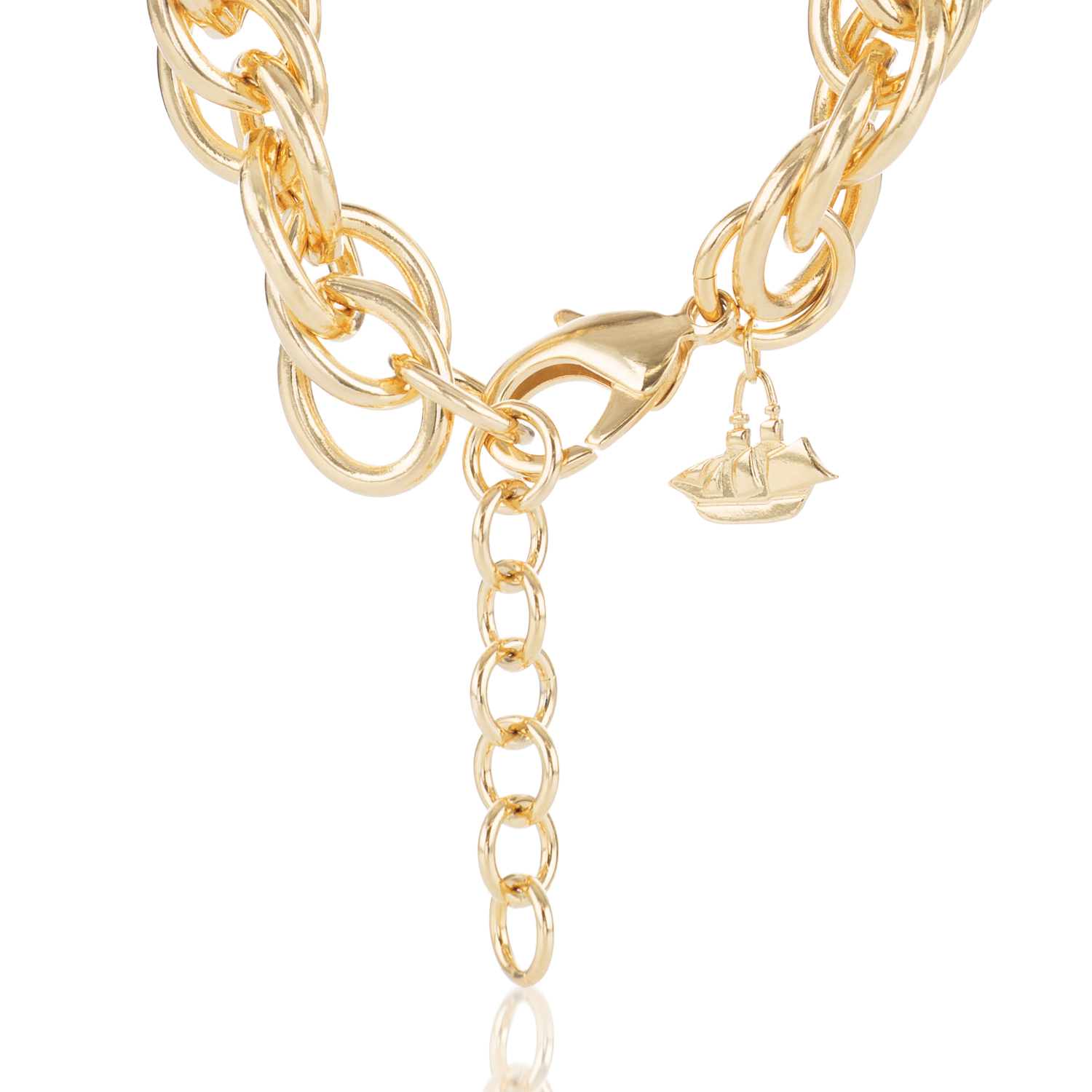 Double Round Chain Necklace Light Gold Providence
